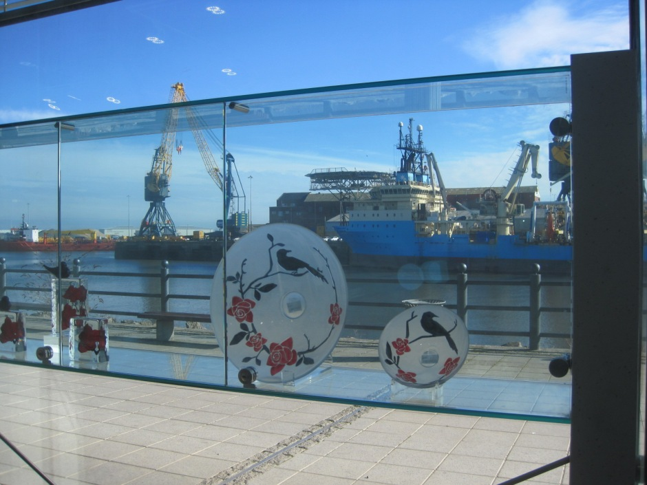 Looking out of the National Glass Centre, Sunderland