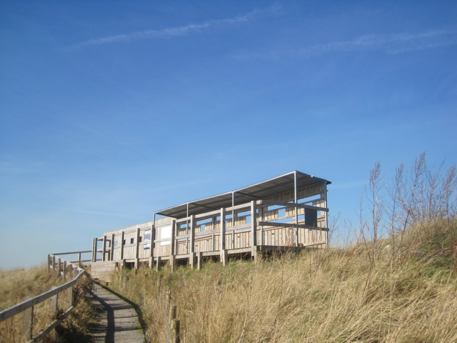 Instead, we're starting at the bird hide on the Seal Sands road