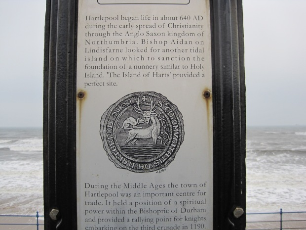 The hart is a symbol of Hartlepool and appears throughout the town