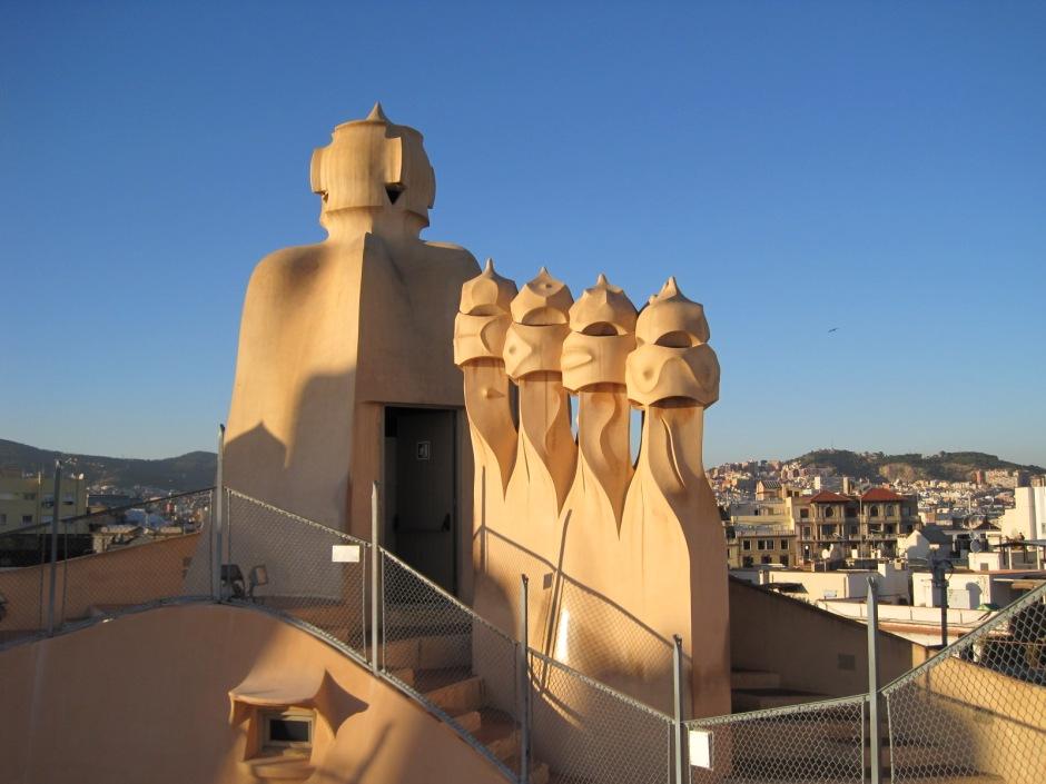 The rooftop at La Pedrera
