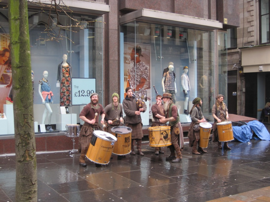 But these guys were still cheerful in the rain