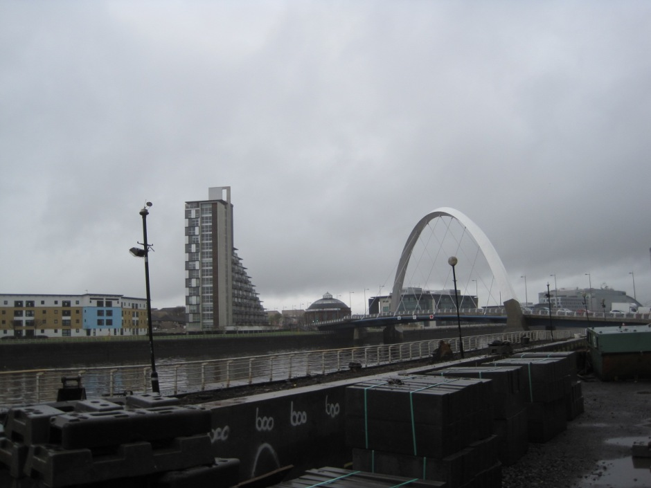 But then I had my reward- a first glimpse of the Clyde Arc