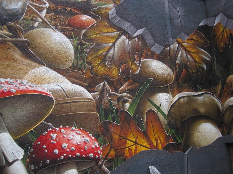 The mushrooms lurk