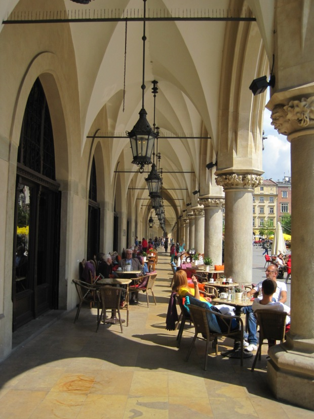 Cafe culture in the arcades of the Sukiennice