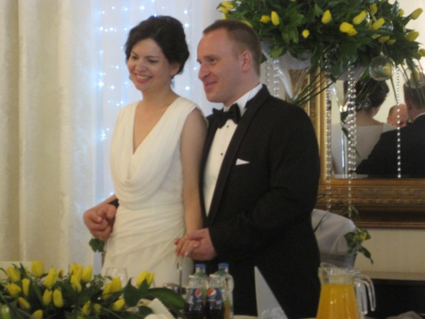 The bride and groom