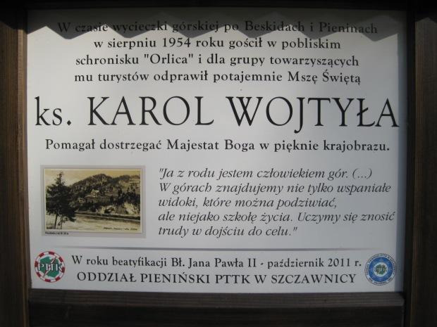 Just one more sign- a view dedicated to Karol Wojtyla (Pope John Paul II)