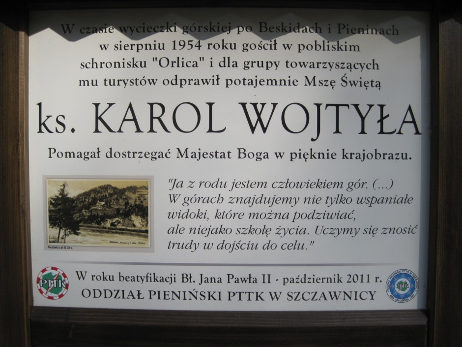 Just one more sign- a view dedicated to Karol Wojtyla (Pope John Paul II)