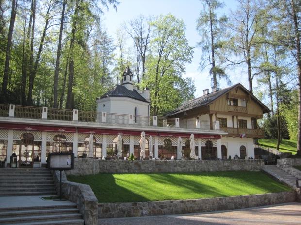 Cafe Helenka and its wide terrace