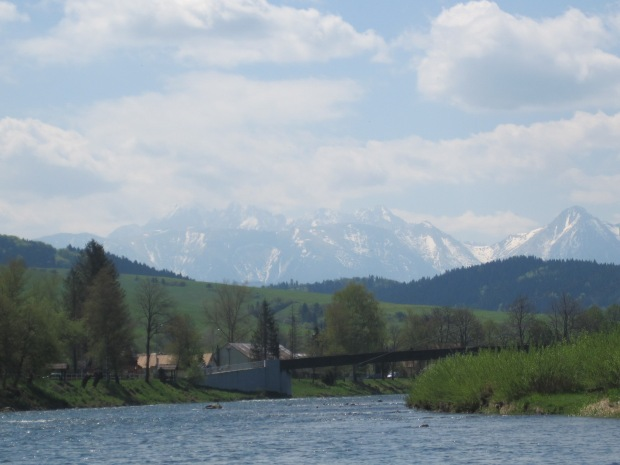 The Tatry Mountains seen from the Dunajec River