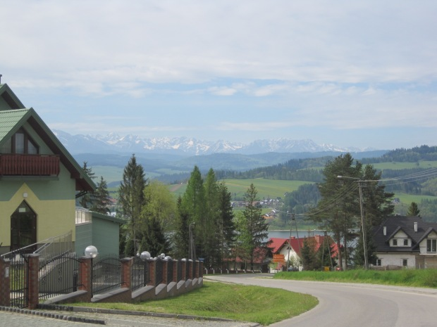 The snow capped Tatry Mountains, seen from Lake Czorsztyn