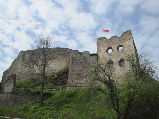 And the ruins of Czorsztyn Castle at the bottom of the street