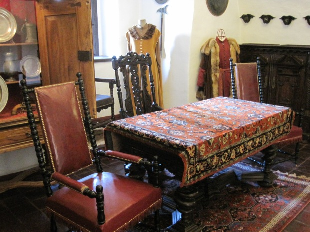 Furnishings bring the castle to life
