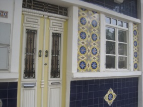 The prettiest of street houses (from a strange angle because the owner was washing up at the sink!)