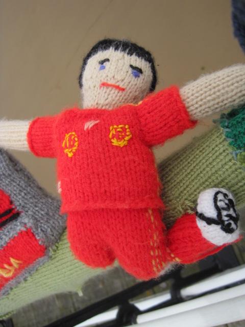 Spain?  He's fell over!
