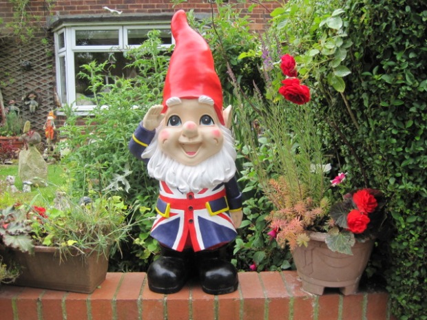 But it wouldn't be an English village without a patriotic gnome