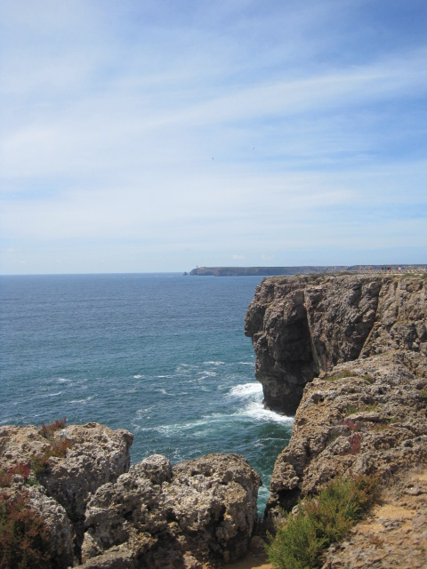 In the far distance, Cabo S. Vicente lighthouse- the most westerly spot in Europe