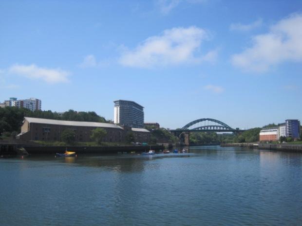 We're walking towards the bridge over the River Wear