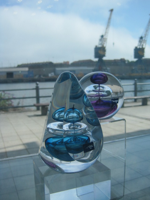 Looking out at the quay, from the National Glass Centre