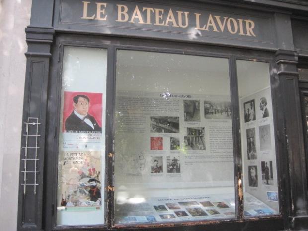The facade of Le Bateau-Lavoir (laundry boat)