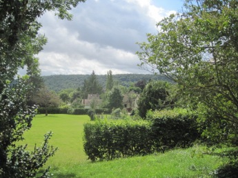 The view across the fields to the river