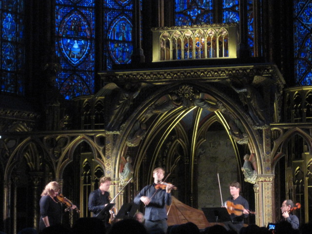 A concert at Saint Chapelle