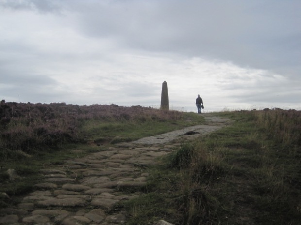 Ahead, the Monument