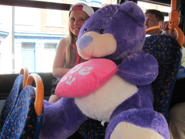 And look what this little girl got to take home on the bus!