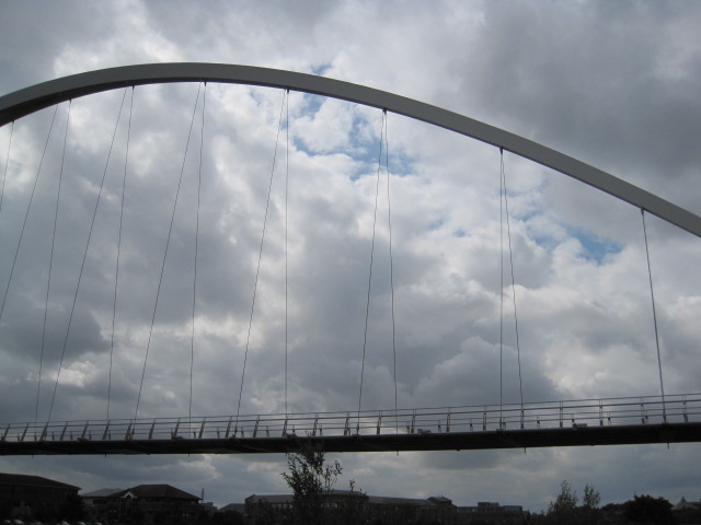 Just a hint of blue sky through the Infinity Bridge