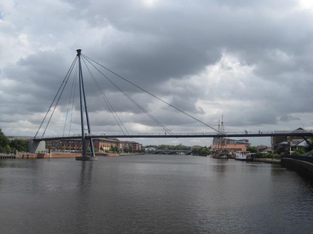 The riverside and Teesside Millenium Bridge