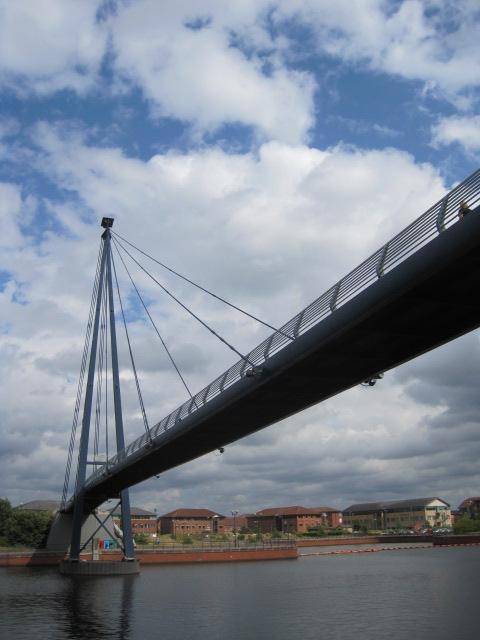 First we need to pass beneath the bridge