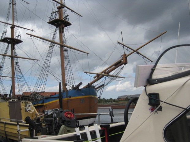 HMS Bark Endeavour has the company of some smaller craft