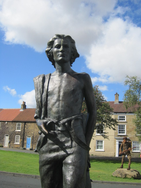 Captain James Cook on the village green at Great Ayton