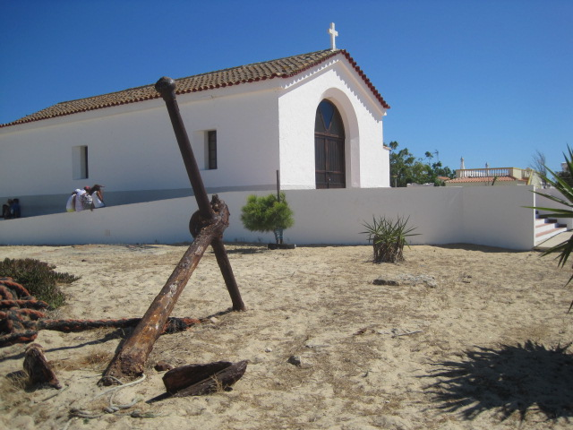 The church is at this end of the island, too