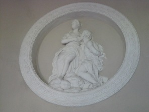 The bas relief wall sculpture