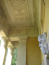 And looking up, inside the portico