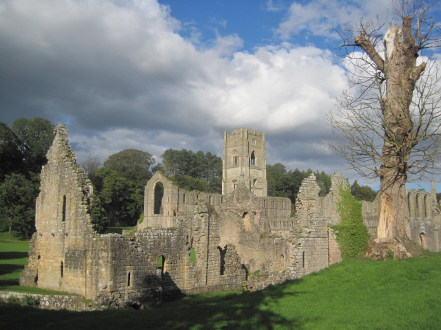 The lovely ruins of Fountains Abbey, Yorkshire