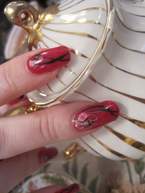 Did you notice the Geisha nails?