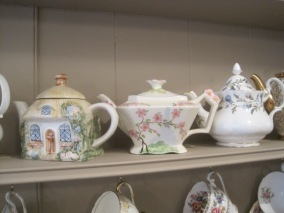 There were lots of teapots