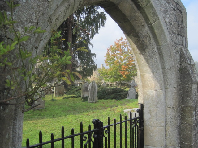 It's a lonely spot but St. Agatha's Church is gentle company
