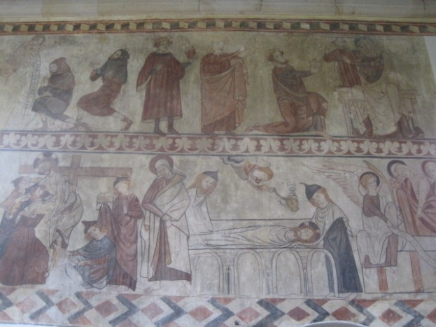 And the coloured frescoes took me completely by surprise