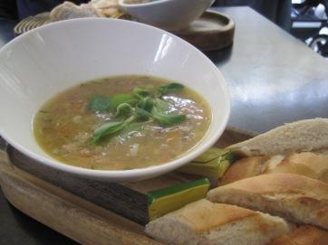 The ham hock soup was delicious