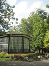 There's a lovely summer house, with a bench or two for lingering