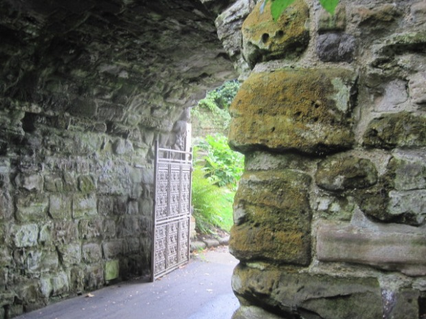 Just what you'd expect from the entrance to a castle