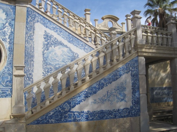 Dappled shade led to the grand staircase