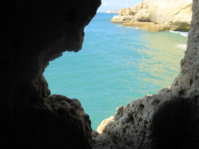 Especially from inside the caves