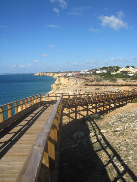 The boardwalk, heading towards Carvoeira