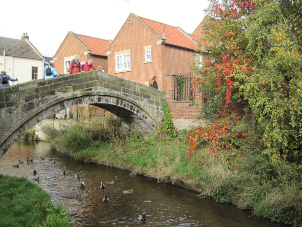 The Pack Horse Bridge and a couple of walkers