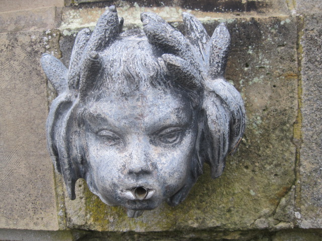 Cherub fountain in the Rose Garden, Castle Howard