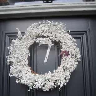 A lucky door wreath