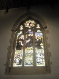 Stained glass of Benedictine Monks